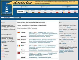 Main page screenshot of dadalos.org