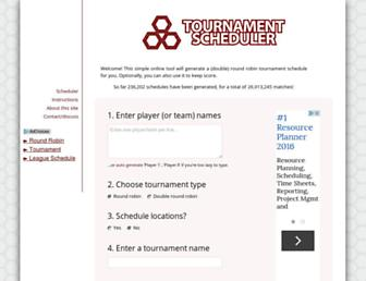 tournamentscheduler.net screenshot