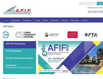 afif.asn.au screenshot