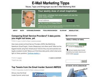 Main page screenshot of emailmarketingtipps.de