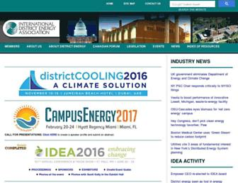 Main page screenshot of districtenergy.org