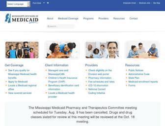 medicaid.ms.gov screenshot