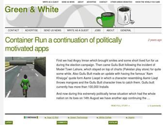 Main page screenshot of greenwhite.org