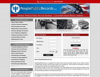 Thumbshot of Peoplepublicrecords.org