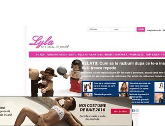 Main page screenshot of lyla.ro