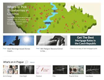 Main page screenshot of expats.cz