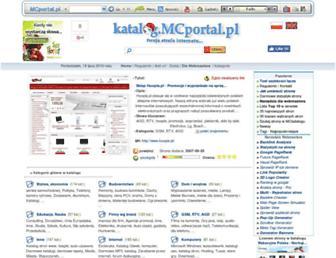 Main page screenshot of katalog.mcportal.pl