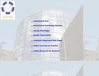 Main page screenshot of academic.pg.cc.md.us