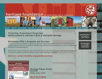 heritagefoundation.ca screenshot