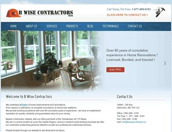 bwisecontractors.ca screenshot