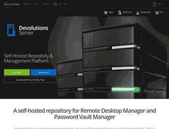 server.devolutions.net screenshot