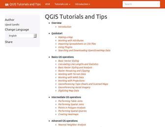 qgistutorials.com screenshot