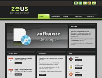 zeus-software.com screenshot