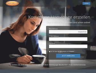 Main page screenshot of beepworld.de