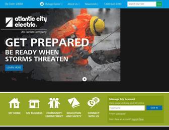 Thumbshot of Atlanticcityelectric.com