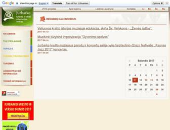 Main page screenshot of jurbarkas.info