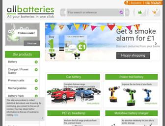 allbatteries.co.uk screenshot