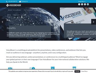 voiceboxer.com screenshot