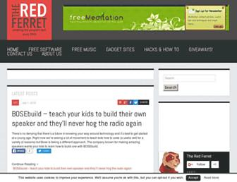 Main page screenshot of redferret.net