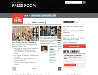 press.fourseasons.com screenshot