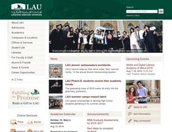 Thumbshot of Lau.edu.lb