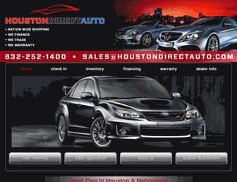 houstondirectauto.com screenshot