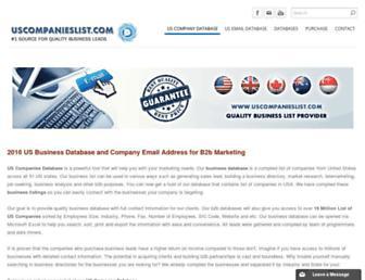 uscompanieslist.com screenshot