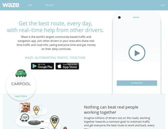 waze.com screenshot