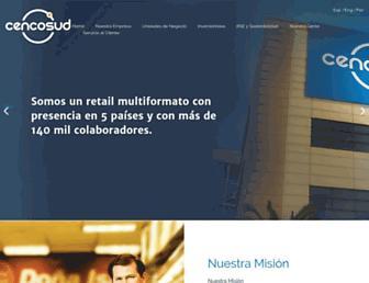Main page screenshot of cencosud.cl