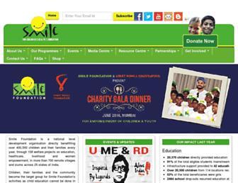 Thumbshot of Smilefoundationindia.org