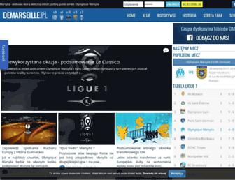 Main page screenshot of demarseille.pl