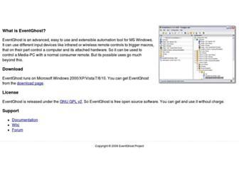 eventghost.net screenshot