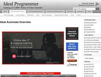idealprogrammer.com screenshot
