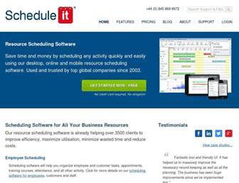 scheduleit.co.uk screenshot