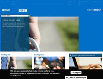 Main page screenshot of teachingenglish.org.uk