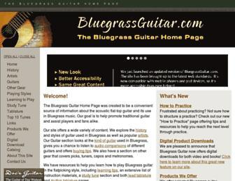 bluegrassguitar.com screenshot