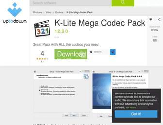 k-lite-mega-codec-pack.en.uptodown.com screenshot