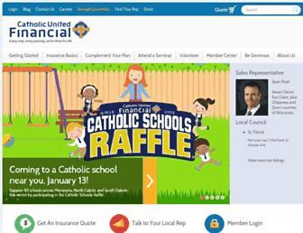 catholicunitedfinancial.org screenshot