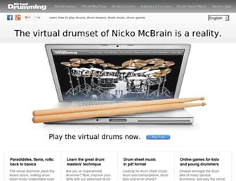 virtualdrumming.com screenshot