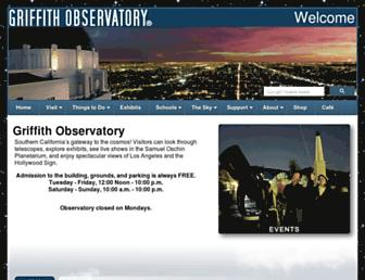 Main page screenshot of griffithobs.org