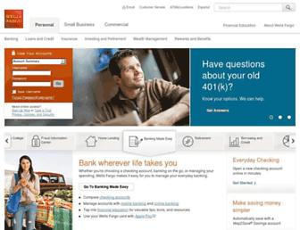 Thumbshot of Wellsfargo.com