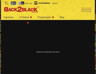 Thumbshot of Back2blackfestival.com.br