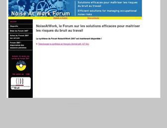Main page screenshot of noiseatwork.eu