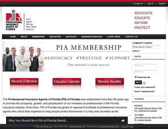piafl.org screenshot