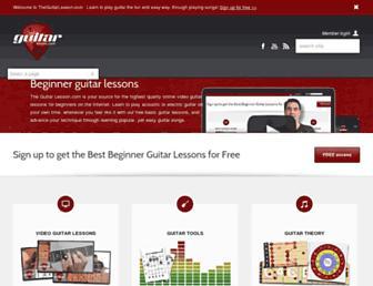 theguitarlesson.com screenshot