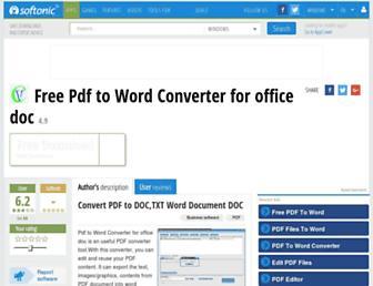 free-pdf-to-word-converter-for-office-doc.en.softonic.com screenshot