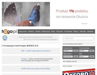 Main page screenshot of hoga.pl