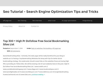 latestseotutorial.com screenshot