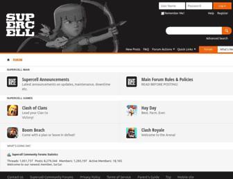 forum.supercell.com screenshot