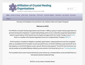 Main page screenshot of crystal-healing.org